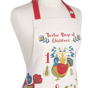 Now Designs Kitchen Apron 12 Days of Christmas NWT